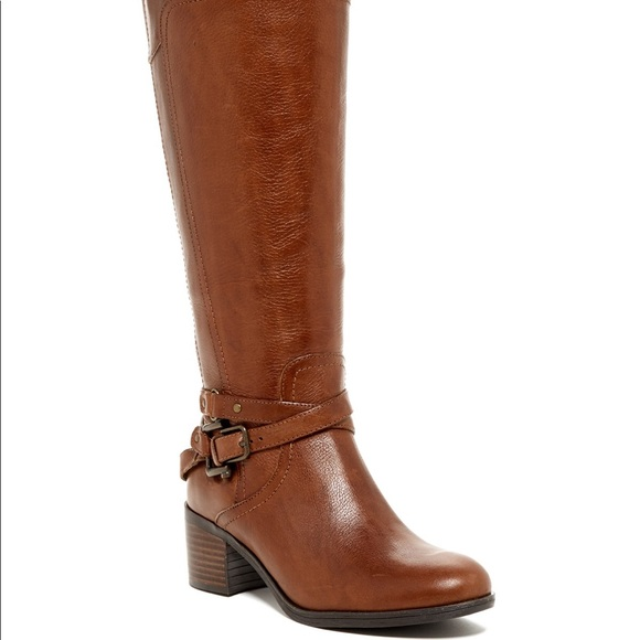bae223f0d1a8a Marc Fisher Shoes | New Kacee Brown Leather Wide Calf Boot | Poshmark